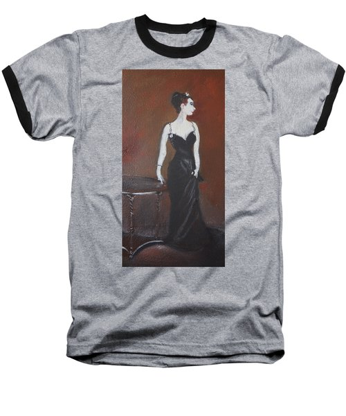 Baseball T-Shirt featuring the painting Mah Lady by Gary Smith