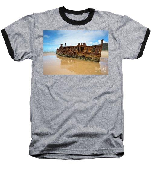 Maheno Shipwreck Baseball T-Shirt