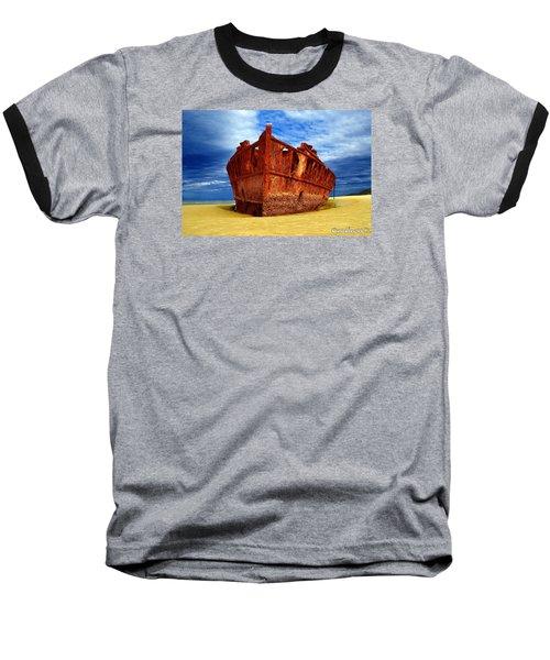 Maheno Shipwreck Fraser Island Queensland Australia Baseball T-Shirt by Gary Crockett