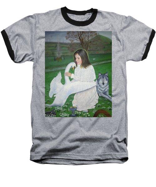 Maiden Goddess Brigit - Imbolc Baseball T-Shirt