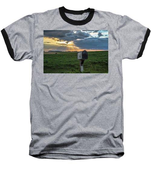 Mail Box In North Dakota  Baseball T-Shirt