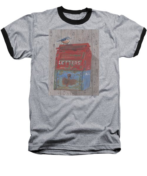 Baseball T-Shirt featuring the painting Mail Call by Arlene Crafton