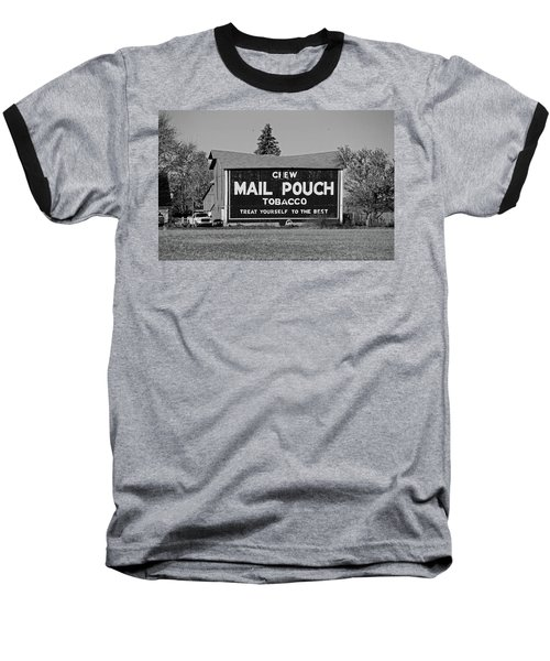 Mail Pouch Tobacco In Black And White Baseball T-Shirt