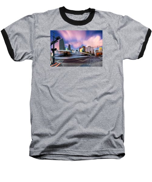 Main And Bell St Downtown Houston Texas Baseball T-Shirt