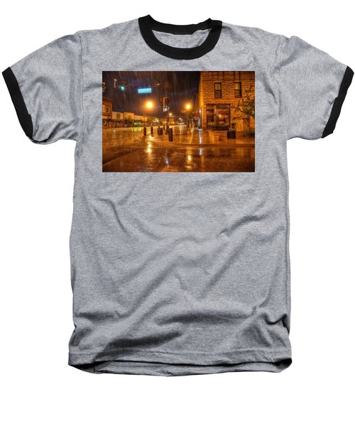Main And Hudson Baseball T-Shirt by Fiskr Larsen