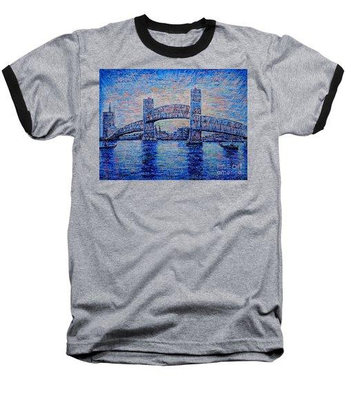 Baseball T-Shirt featuring the painting Main St.bridge,#2 by Viktor Lazarev