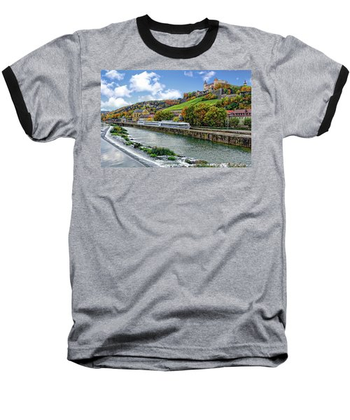 Main River Panorama Baseball T-Shirt