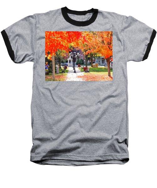 Main Street In The Fall Baseball T-Shirt