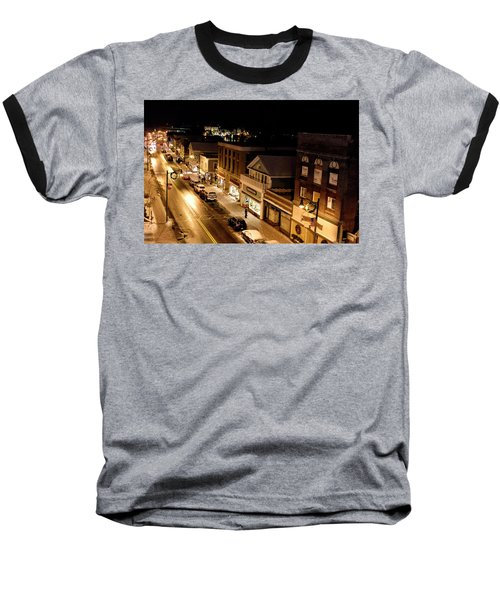 Baseball T-Shirt featuring the photograph Main Street - Lake Placid New York by Brendan Reals