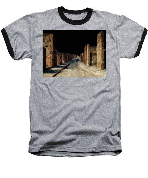 Baseball T-Shirt featuring the digital art Main Street, Pompeii by Lois Bryan