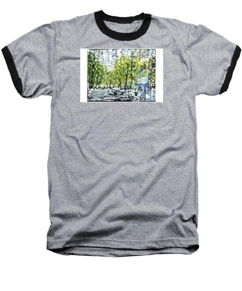 Main Street Snow Baseball T-Shirt
