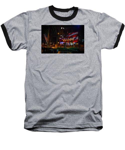 Main Street Station At Night Baseball T-Shirt
