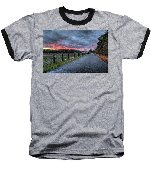 Main Sunset Baseball T-Shirt by John Loreaux