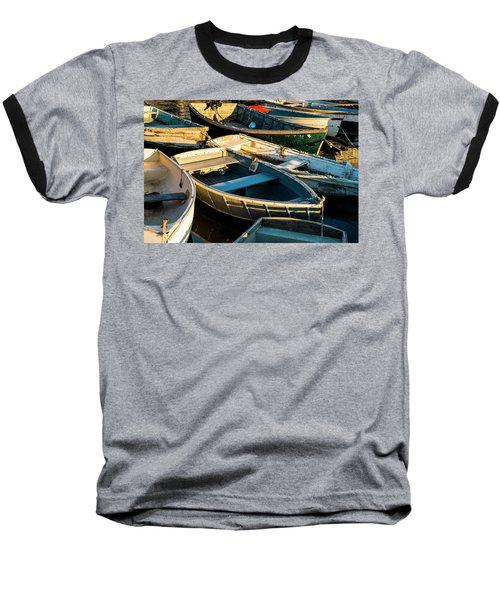 Maine Boats At Sunset Baseball T-Shirt