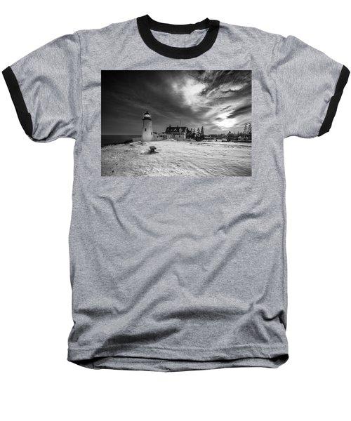Maine Coastal Storm Over Pemaquid Lighthouse Baseball T-Shirt