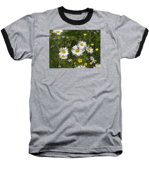 Baseball T-Shirt featuring the photograph Maine Flowers by Helen Haw