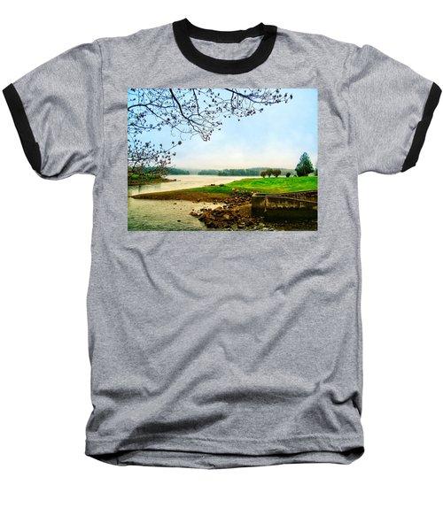 Maine Fog  Baseball T-Shirt