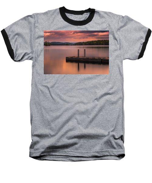 Maine Highland Lake Boat Ramp At Sunset Baseball T-Shirt