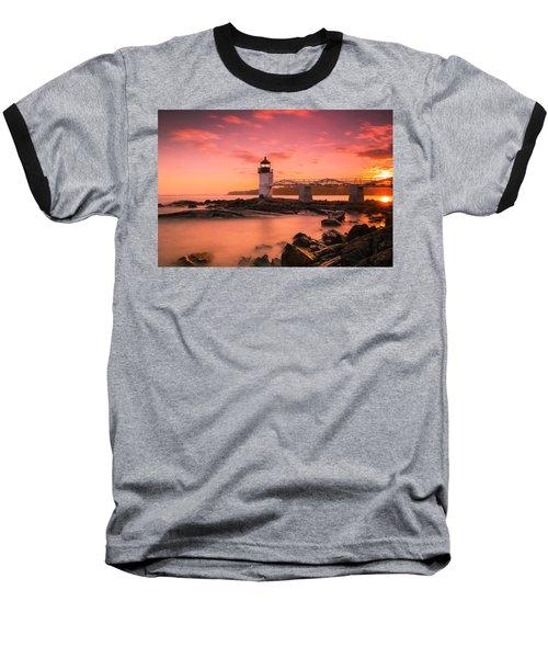 Maine Lighthouse Marshall Point At Sunset Baseball T-Shirt