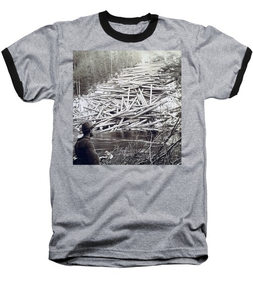 Maine Logging -  C 1903 Baseball T-Shirt by International  Images