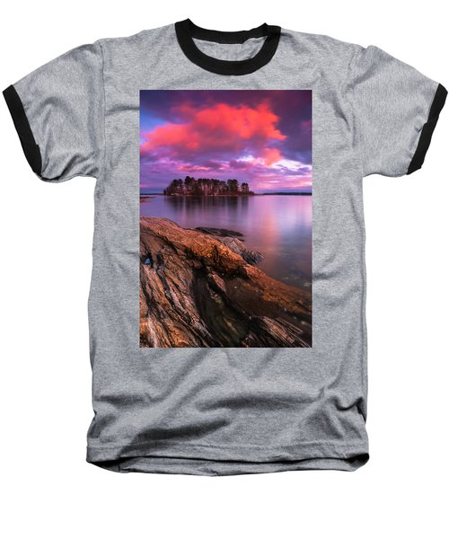 Maine Pound Of Tea Island Sunset At Freeport Baseball T-Shirt