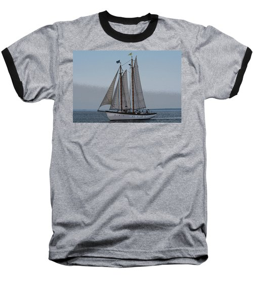 Maine Schooner Baseball T-Shirt