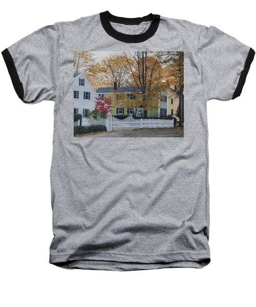 Autumn Day On Maine Street, Kennebunkport Baseball T-Shirt