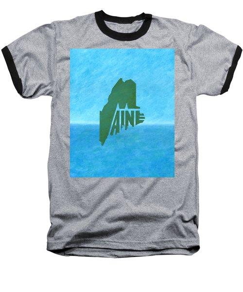 Maine Wordplay Baseball T-Shirt