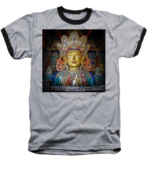 Maitreya Buddha Baseball T-Shirt