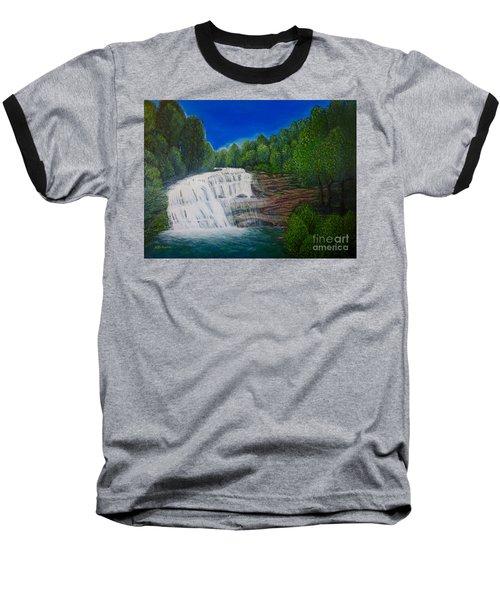 Majestic Bald River Falls Of Appalachia II Baseball T-Shirt by Kimberlee Baxter