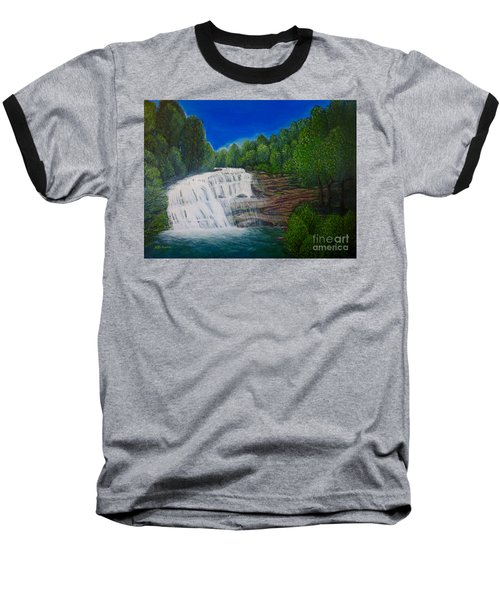 Majestic Bald River Falls Of Appalachia II Baseball T-Shirt