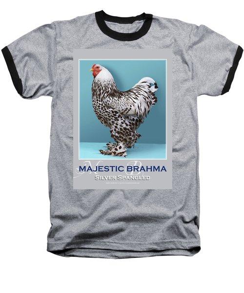 Majestic Brahma Silver Spangled Baseball T-Shirt