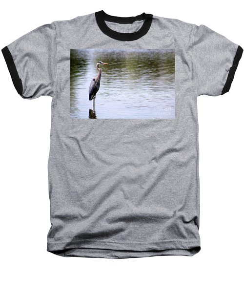 Majestic Great Blue Heron Baseball T-Shirt