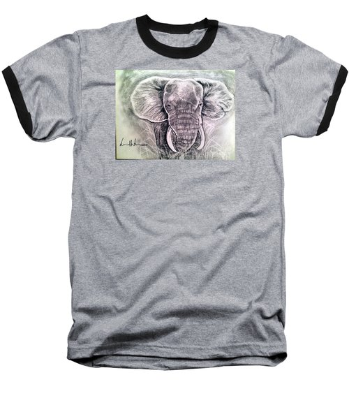 Majestic Elephant Baseball T-Shirt by Brindha Naveen