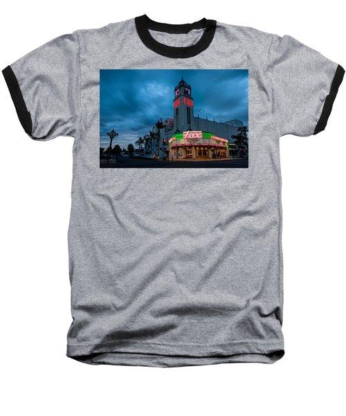Majestic Fox Theater Sunset Stormy Night Baseball T-Shirt