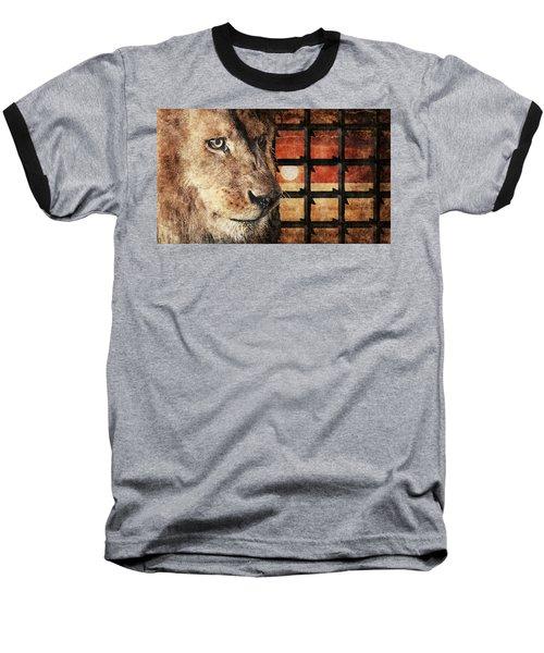Majestic Lion In Captivity Baseball T-Shirt by Anton Kalinichev
