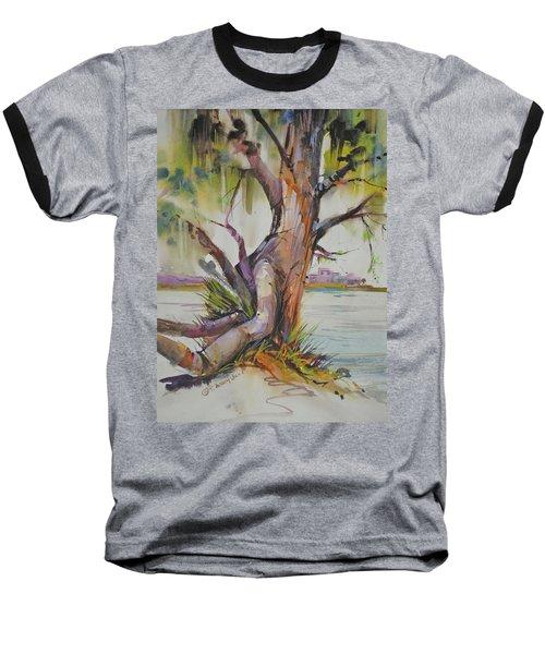 Majestic Live Oak  Baseball T-Shirt by P Anthony Visco