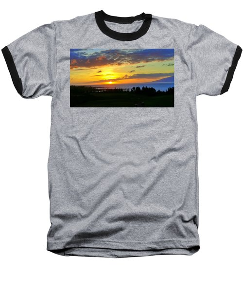Majestic Maui Sunset Baseball T-Shirt