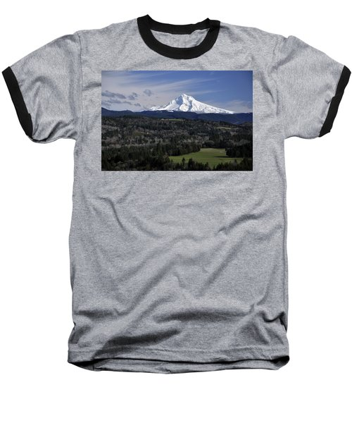 Majestic Mt Hood Baseball T-Shirt by Jim Walls PhotoArtist
