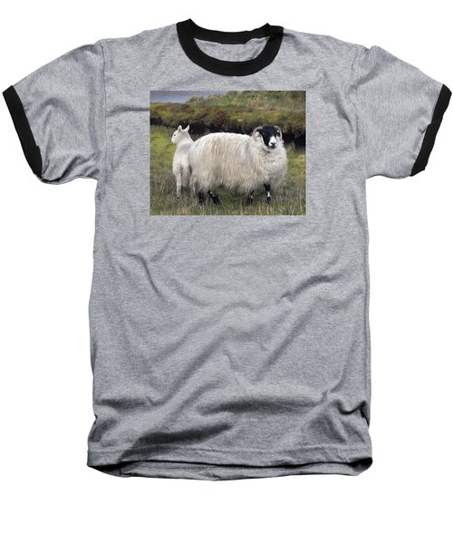Majestic Ram Of Ireland Baseball T-Shirt