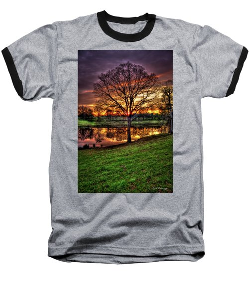Majestic Sunrise Reflections Art Baseball T-Shirt