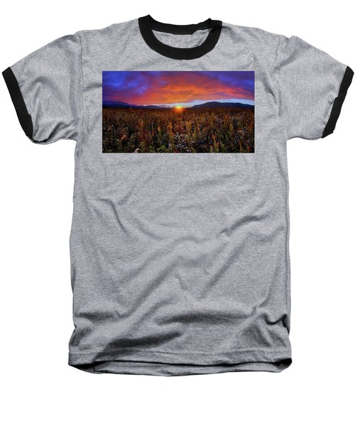 Majestic Sunset Over Cades Cove In Smoky Mountains National Park Baseball T-Shirt