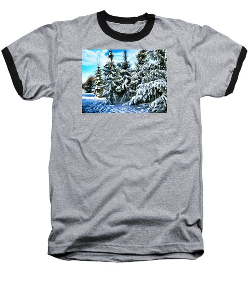 Majestic Winter In New England  Baseball T-Shirt