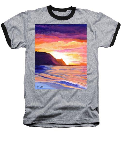 Makana Sunset Baseball T-Shirt by Marionette Taboniar