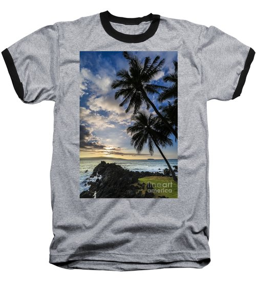 Makena Maui Hawaii Sunset Baseball T-Shirt