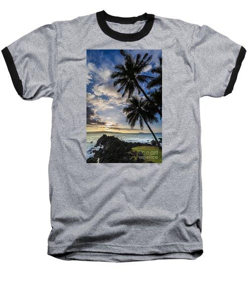Makena Maui Hawaii Sunset Baseball T-Shirt