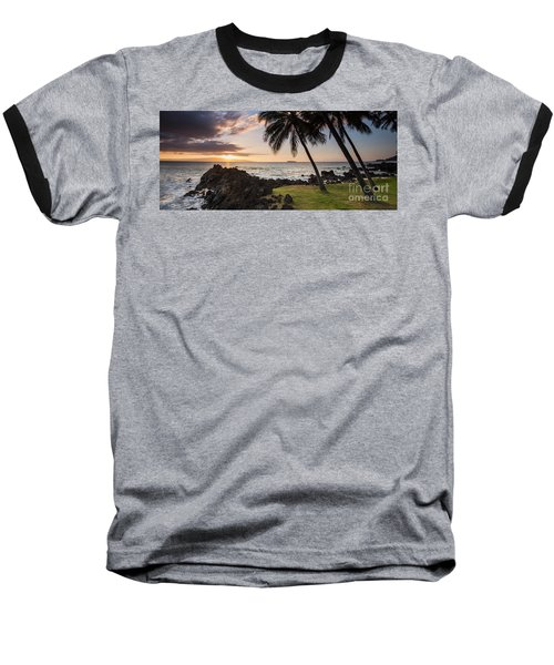 Makena Sunset Maui Hawaii Baseball T-Shirt