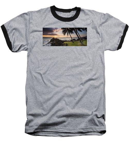 Makena Sunset Maui Hawaii Baseball T-Shirt