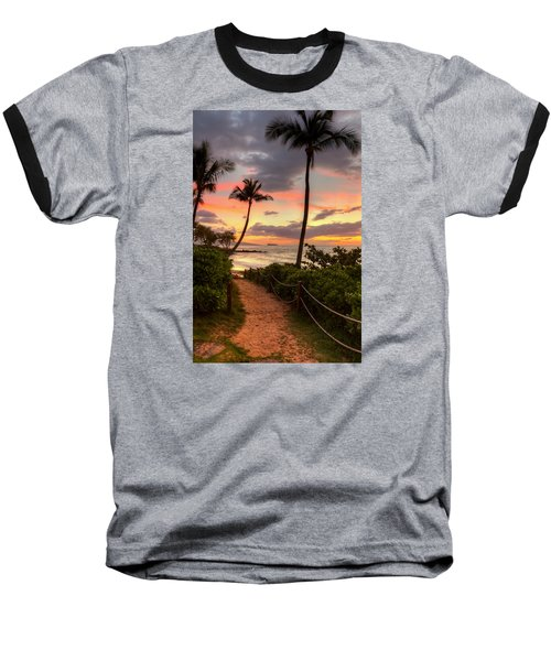 Makena Sunset Path Baseball T-Shirt