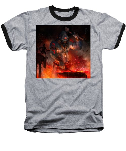 Maker Of The World Baseball T-Shirt by Ryan Barger